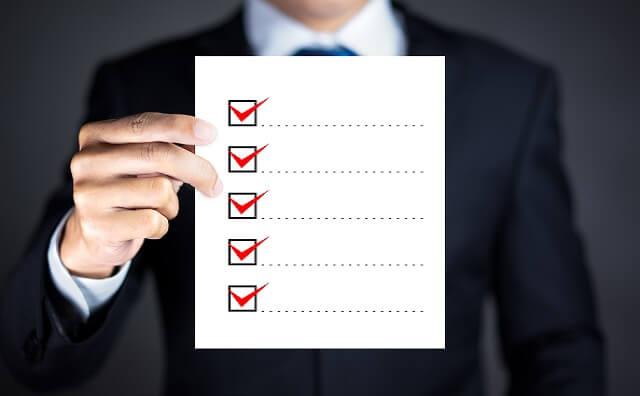 風俗店のチェックリストのイメージ